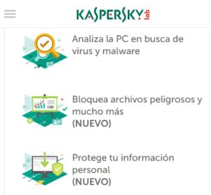 kaspersky caracteristicas y funciones