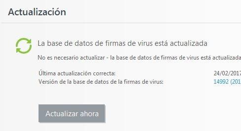 actualizar malwarebytes y antivirus principal