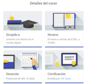 curso de Marketing Digital de Google en Madrid