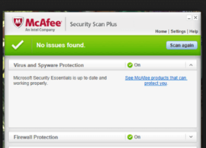 mcafee security scan plus descargar